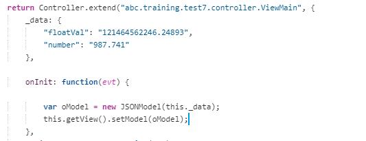 JSON model с данными Float